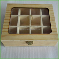 Wholesale Glass Window Wood Box For Tea Packing
