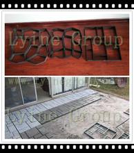 DIY concrete cement path paving paver patio mould&silver Aluminium wallet