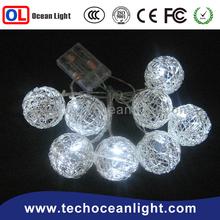 New 2015 Christmas white lights 10 LED Waterproof lovely star Battery String Light