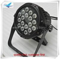 Free shipping (4 pcs) 18x10w rgbw 4in1 quad led par, waterproof led par can