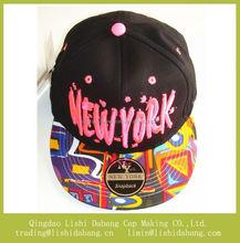 Graffiti flat brim fashion embroider girls snapback hats