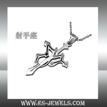 China jewelry company offer 12 Zodiac Pendants necklaces stainless steel
