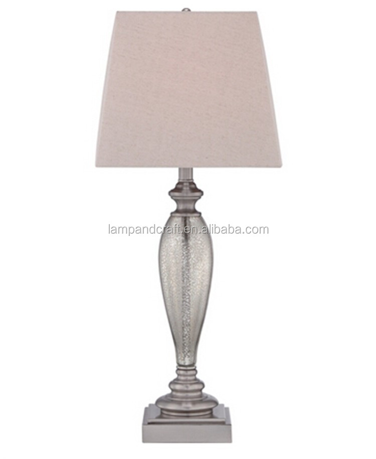 base silver glass table lamp for living room and holiday inn decor