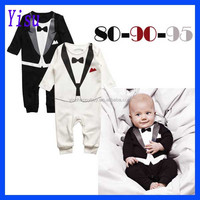 High Quality Spring Baby Boy Jumpsuit Bodysuit Gentleman Rompers
