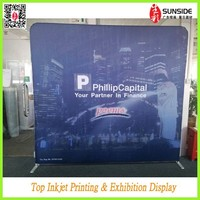 High quality advertising fabric pop up stand,trade show display