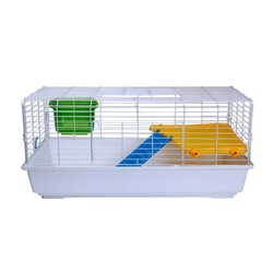 Two Storeys Foldable Metal Rabbit Cage, Squirrel Cage, Small Pets Cage
