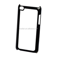 Blank sublimation PC phone case for touch4 with metal plate