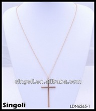 Classic delicate tiny plain gold chain link necklace plating silver jewelry cross necklace muslim necklaces
