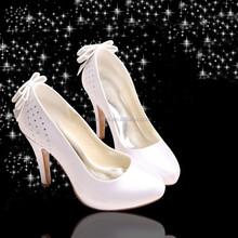 White Satin Wedding Shoes
