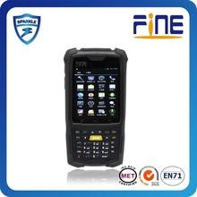 Wince 6. OS biometric fingerprint reader based Mobile PDA with 3G/RFID/Barcode reader