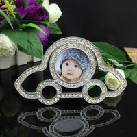 wholesale beautiful funny photo frame car shaped kids baby photo frame diamond lovely picture frame