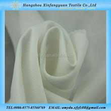 Beautiful white 100 polyester tricot fabric for dress