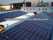 solar electricity generating system for home with 6kw solar grid tie inverter and required solar products