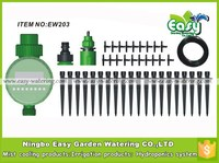20 Container micro drip irrigation system with water timer. Sprinkler Micro irrigation kits.