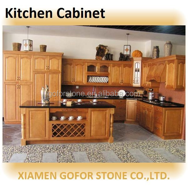 China Wood Kitchen Cabinet Prefab Kitchen Cabinet Whole