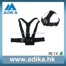 SJ4000 accessories A model chest band with B model head band, for Go Pro Heros 4 3+/3/2/1 ADK-GP59