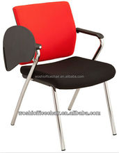 Simple Stacking Conference Chairs Plastic Writing Tablet Chairs For Office, Conference Room