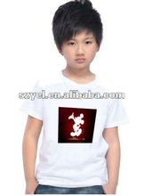 2012 most popular mickey El sound active t-shirt in kids