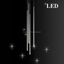 chrome dining lamp led tube pendant light ,ceiling lighting