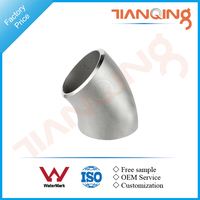 G201 Factory price pipe fitting Stainless steel thick wall equal 45 elbow ASME B16.9