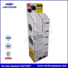 5 layers cardboard pegged hanger floor display for Light Product