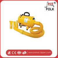 Temperature is controlled pet grooming dryer