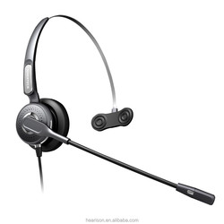 High quality cute industry Hearison call center headset monaural telephone usb noise cancelling headphone for calling