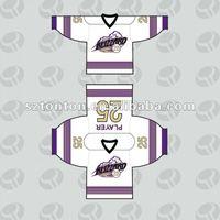 Custom OEM dye sublimation ice hockey jersey design
