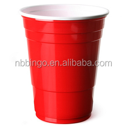Disposable Double Color Cup Red Party Cup