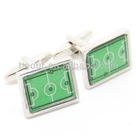 football cufflinks Green Football Field Cufflinks - 550133