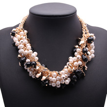 Wholesale high quality comfortable flower diamond necklace collar