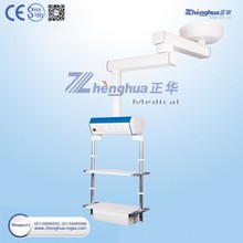 Endoscopy double arm hospital bed pendant for surgical instrument