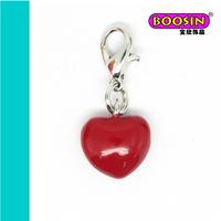 2015 Promotion heart jewelry heart enamel pendants for women #16475