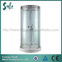 fancy outlook frameless stainless steel shower cubicle