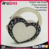 China factory cheap metal wedding favor heart shape bag hook
