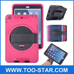 Hybrid TPU PC Heavy Duty Stand Case Cover With Handstarp For Ipad 2/3/4