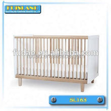 Antique European style high quality wooden baby swing bed