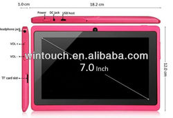 Wintouch tablet pc 7 inch allwinner A13 android 4.0 capacitive cheapest tablet pc made in china