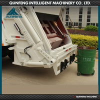 power wheel compactor waste rubbish truck price with rear loader