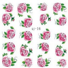 2015 Big sale ! Nail Stickers Decal french nail Art Rose&Pink Flower Motif flowers Sticker Nail Decorations For Women