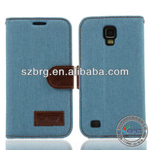flip leather case for samsung s4 telephone