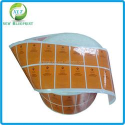 Waterproof cosmetic vinyl label,customer cosmetic adhesive labels printing