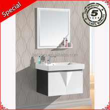 Washroom fashion decor water-proof large wooden cabinet and vanity combo BP1021