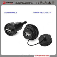 Cnlinko Provide Usb A Type Connector USB3.0 Usb2.0 Female Panel Mount Connector Belong to Wire Connectors Types