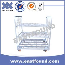 4 Wheels Metal Case Carry Hand Trolleys, Market Steel Roll Container
