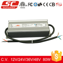 24v 80W 3.33A IP66 Triac dimmable constant voltage driver led power