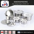 12 PCS de aço inoxidável raso Stock Pot
