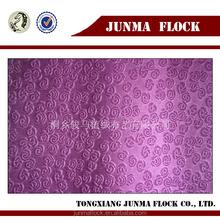 Manufacturer China Junma Design Rose pattern Spray Flocking Fabric Quilting