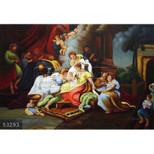 Handmade Christian Art Famous Jesus Christ Oil Painting, The Birth Of Mary by Corrado Giaquinto