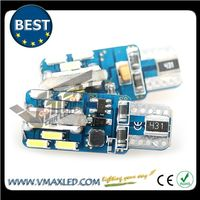 Top car spare part light white bulb T10 wedge base have CE export standard approved led auto